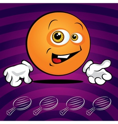 smiling ping pong ball vector image