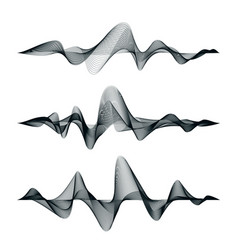 sound waves track design set of audio waves vector image