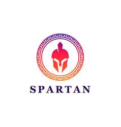 Spartan greek coin logo design1 vector