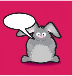 speech rabbit vector image