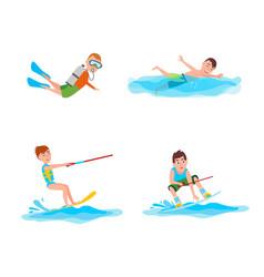 Summer collection activities vector