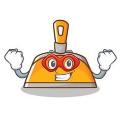 Super hero dustpan character cartoon style vector