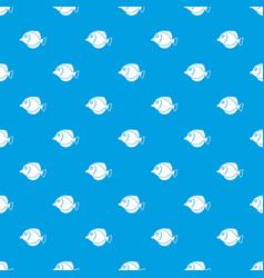 Tang fish zebrasoma flavescens pattern seamless vector