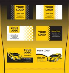 Taxi service business cards vector