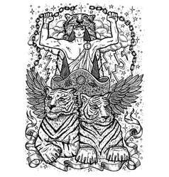 tiger symbols vector image