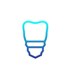 tooth dental implant icon vector image