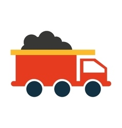 truck mining transport icon vector image