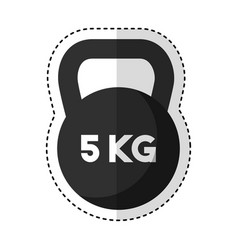 weight lifting dumbbell isolated icon vector image