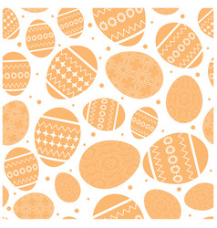 white easter seamless pattern with orange vector image