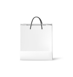 white shopping paper bag bag template isolated on vector image