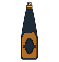 wine bottle icon image vector image vector image
