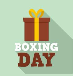 xmas boxing day logo set flat style vector image