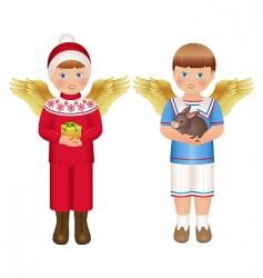 angels vector image