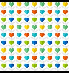 colorful heart pattern plant background design vector image