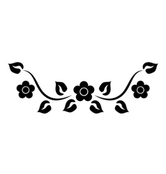 element with flowers vector image vector image