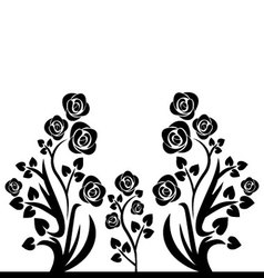 flourishes black and white vector image vector image