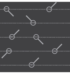 Binary code digits and lens pattern eps10 vector