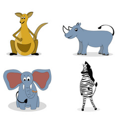 characters carnivores vector image vector image