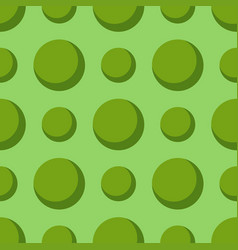 colored green circle seamless pattern shape art vector image vector image