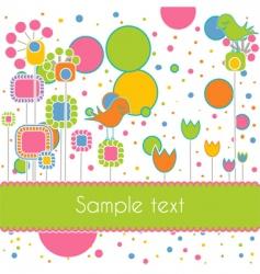cute card vector image