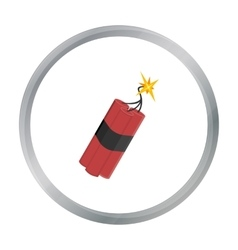 Dynamite icon cartoon Singe western icon from the vector image vector image