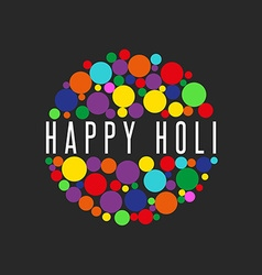 Happy holi spring festival of sharing love banner vector