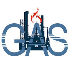 Icon gas industry 4 vector image vector image