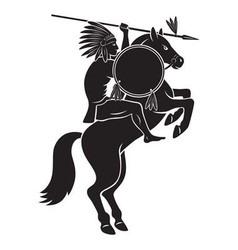 Indian on horseback vector image vector image