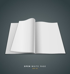 Open white page vector image vector image