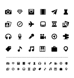 Retina travel and entertainment icon set vector image vector image