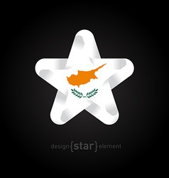 star with Cyprus flag colors and symbols vector image