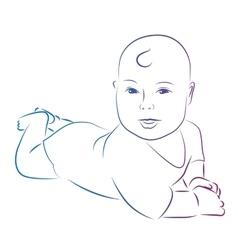 Baby sketch vector image vector image
