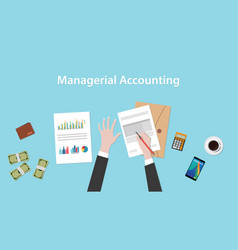 managerial accounting with a man vector image vector image