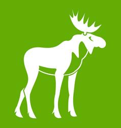 moose icon green vector image vector image