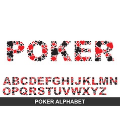 poker alphabet from a to z vector image vector image