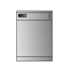 dishwasher wide vector image vector image