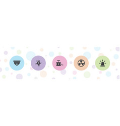 5 caution icons vector