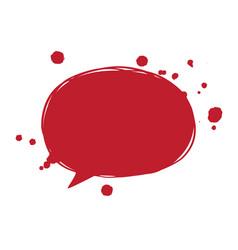 a blood speech bubble vector image