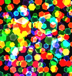 Abstract background of color geometric figures vector