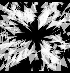 Abstract rough shattered texture edgy angular vector