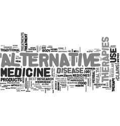 Alternative therapies do they work text word vector