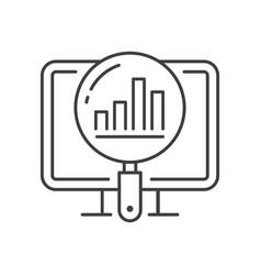 analytics line icon symbol vector image