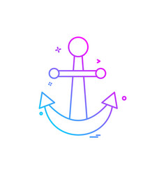 anchor icon design vector image