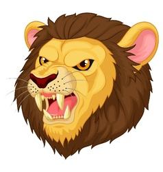 Angry lion head mascot cartoon vector