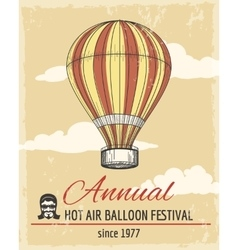 annual festival ballooning retro poster vector image