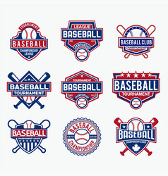 baseball logo 2 vector image