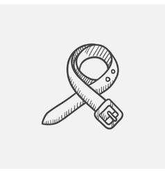 Belt sketch icon vector image
