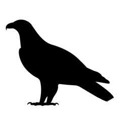 black silhouette a standing eagle vector image