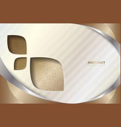 bronze wavy shapes vector image