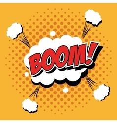 Bubble pop art of boom design vector